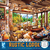 Rustic Lodge - Fishing Map and Guide - 1000 Piece Puzzle