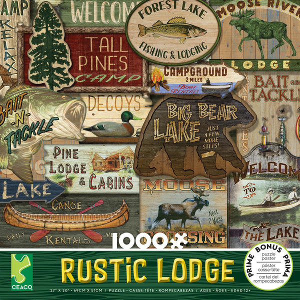 Rustic Lodge - Lodge Signs - 1000 Piece Puzzle
