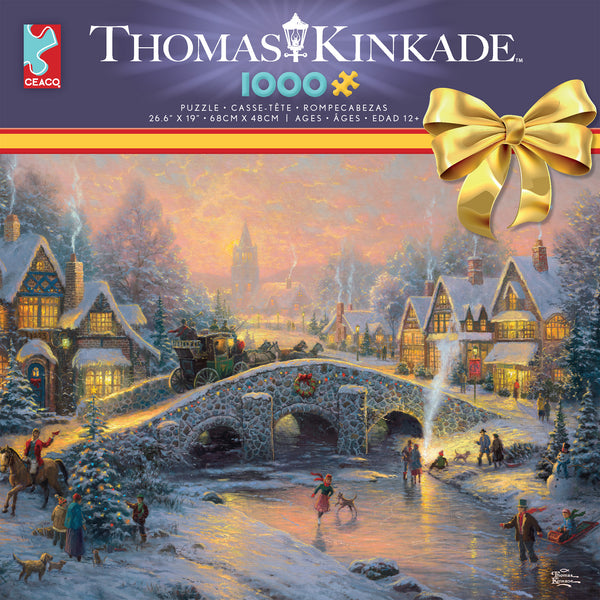 Thomas Kinkade Holiday Spirit Of Christmas 1000 Piece Puzzle