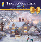 Thomas Kinkade Holiday - Christmas at Gingerbread Cottage - 1000 Piece Puzzle