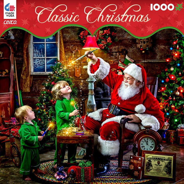 Classic Christmas - Santa's Magic Paint - 1000 Piece Puzzle