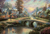 Thomas Kinkade - Sunset on Lamplight Lane - 2000 Piece Puzzle
