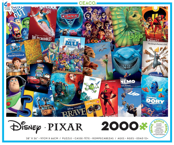 Disney / PIXAR - Movie Posters - 2000 Piece Puzzle