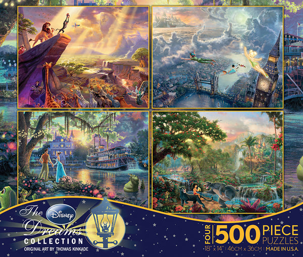 Thomas Kinkade Disney - Multipack - 4 in1 Puzzles