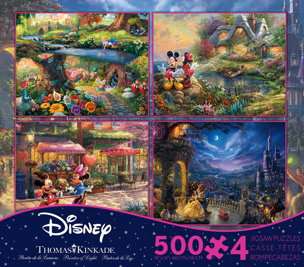 Thomas Kinkade Disney - Multipack - 4 in 1 Puzzles