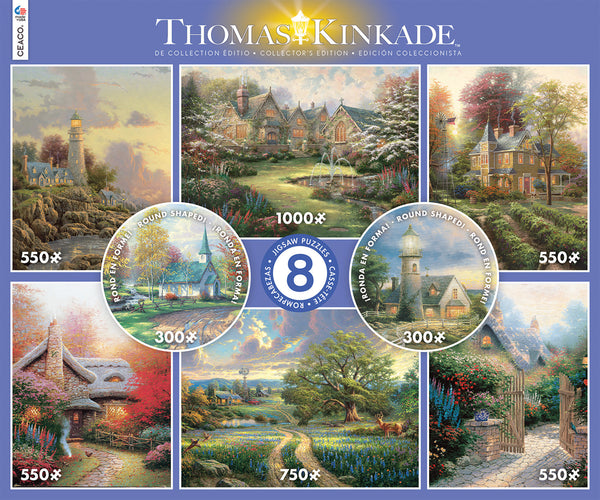 Thomas Kinkade 8 in 1 Puzzle Set