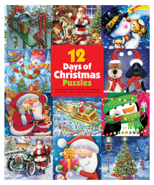 12 Days of Christmas Puzzles - 12 in 1 Puzzle Set