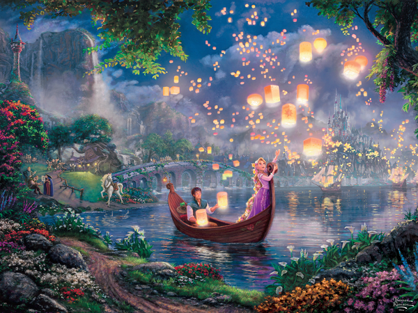 Thomas Kinkade Disney - Tangled - Perfect Piece Count