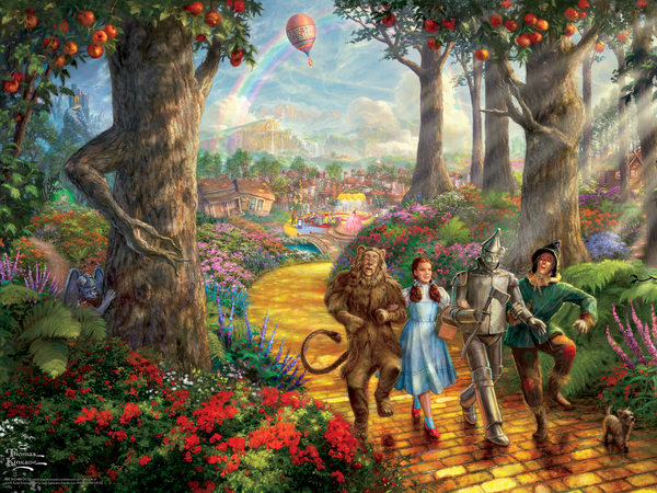 Thomas Kinkade Warner Bros. - Follow the Yellow Brick Road - Perfect Piece Count