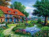 Arturo Zarraga - Cottage with Swans - 550 Piece Puzzle