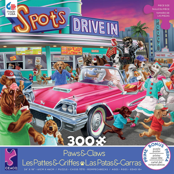 Paws & Claws - Drive-in - 300 Piece Puzzle