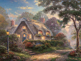 Thomas Kinkade Deluxe Metallic - Lovelight Cottage -  750 Piece Puzzle