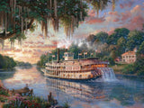 Thomas Kinkade Deluxe Metallic- The River Queen - 750 Piece Puzzle