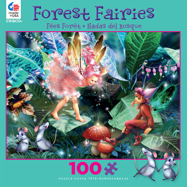 Fairy Elf and Mice Jigsaw Puzzle Box