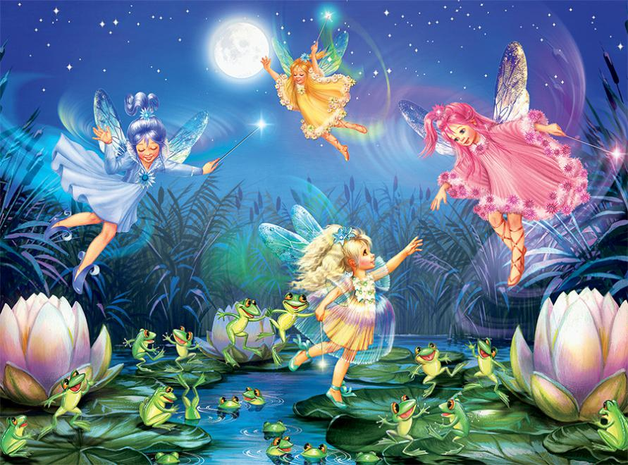 Forest Fairies - Fairies with Dancing Frogs - 100 Piece ...
