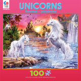 Unicorn Waterfall Sunset Jigsaw Puzzle Box
