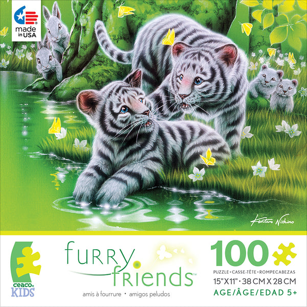 Tiger Cubs Jigsaw Puzzle Box