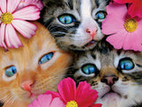 Avanti - Kittens in Flowers - 300 Piece Puzzle