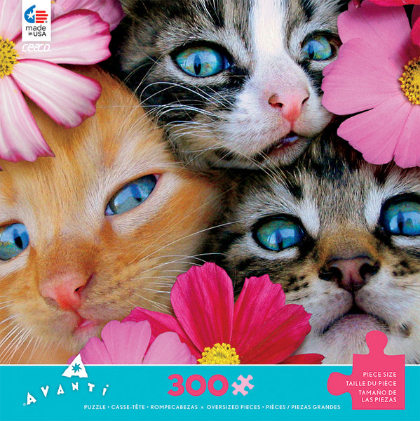 Kittens in Flowers Jigsaw Puzzle Box