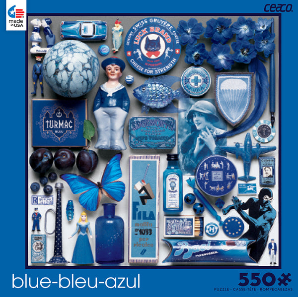 Blue Jigsaw Puzzle Box