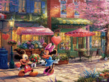 Thomas Kinkade Disney - Mickey and Minnie Sweetheart Cafe - 750 Piece Puzzle