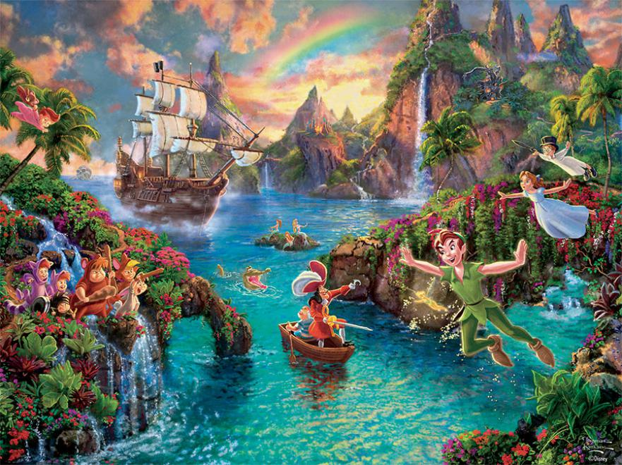 Thomas Kinkade Disney Peter Pan 750 Piece Puzzle