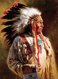Native Portraits - Profile of a Chief - 1000 Piece Puzzle