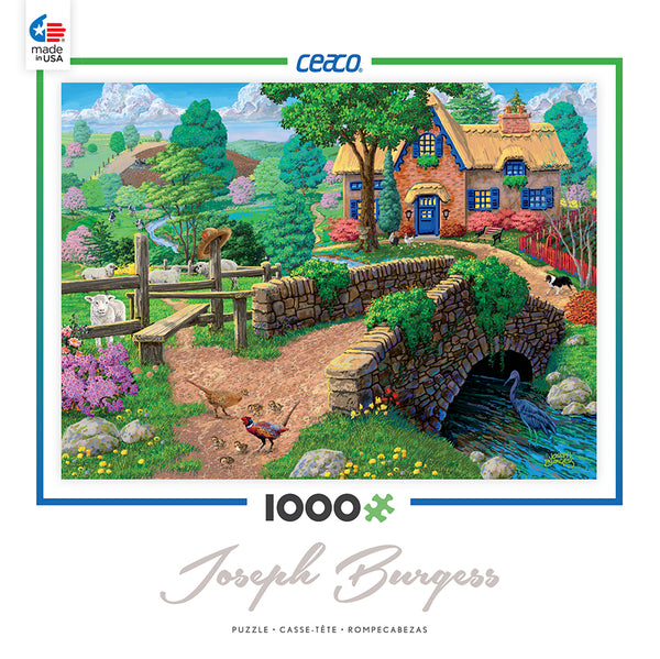 Fence Steps Cottage Jigsaw Puzzle Box