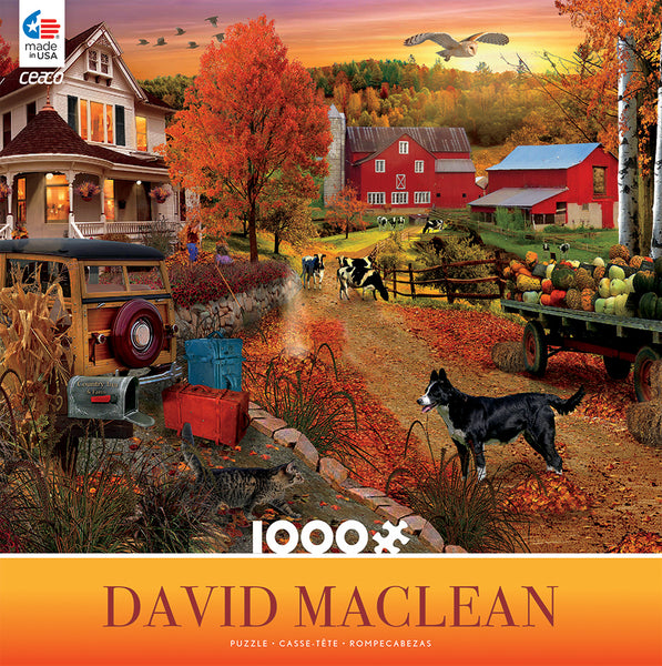 Country Inn and Farm Jigsaw Puzzle Box