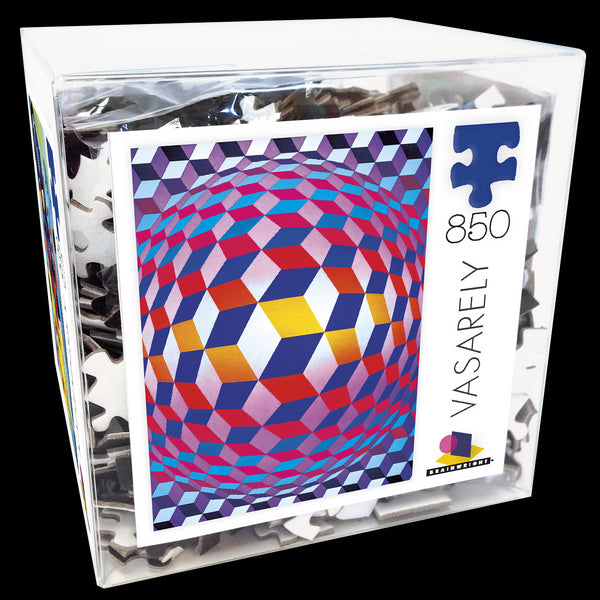 Vasarely Jigsaw Puzzle Box