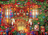 Classic Christmas - Festive Fireplace - 1000 Piece Puzzle