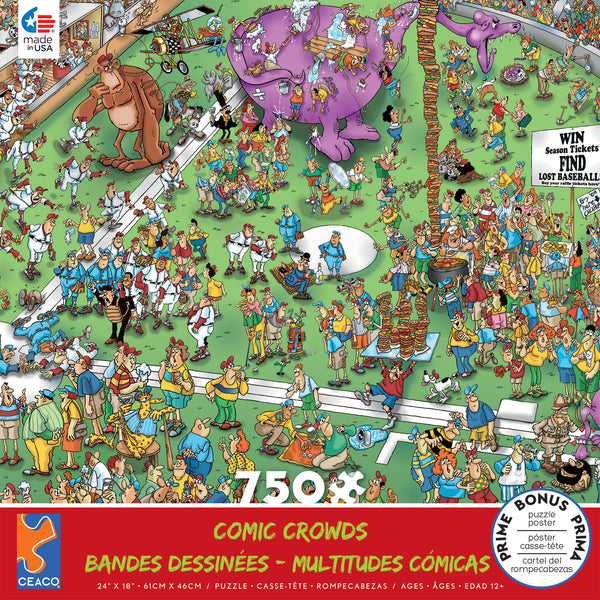Comic Crowds - Lost Ball - 750 Piece Puzzle