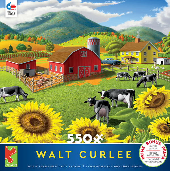 Walt Curlee - Sunflowers - 550 Piece Puzzle