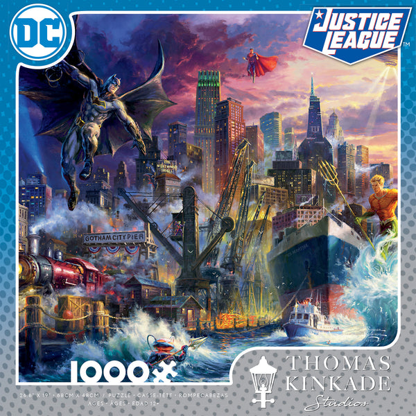 DC Comics Thomas Kinkade - Showdown at Gotham Pier - 1000 Piece Puzzle