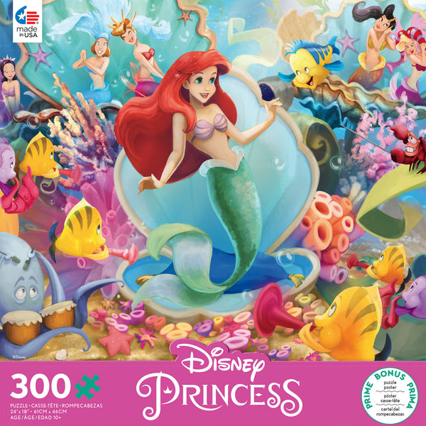 Disney 300 Oversized Pieces - Ariel and Friends - 300 Piece Puzzle
