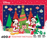 Disney Holiday Together Time - Mickey and Minnie Celebrate the Season - 400 Piece Puzzle