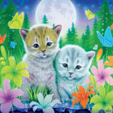 Furry Friends Glitter - Cat Best Friends - 100 Piece Puzzle