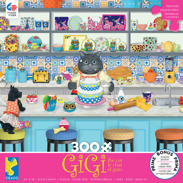 Gigi the Cat - The Baker - 300 Piece Puzzle