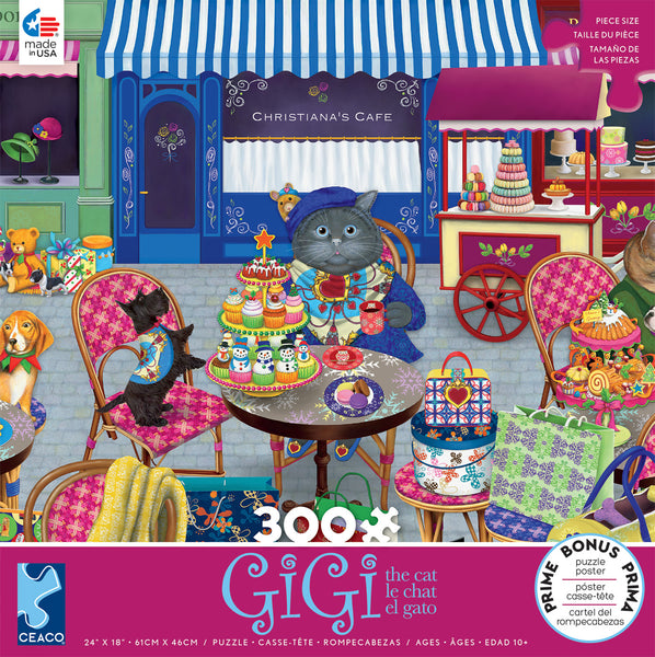 Gigi the Cat - The Shopper - 300 Piece Puzzle