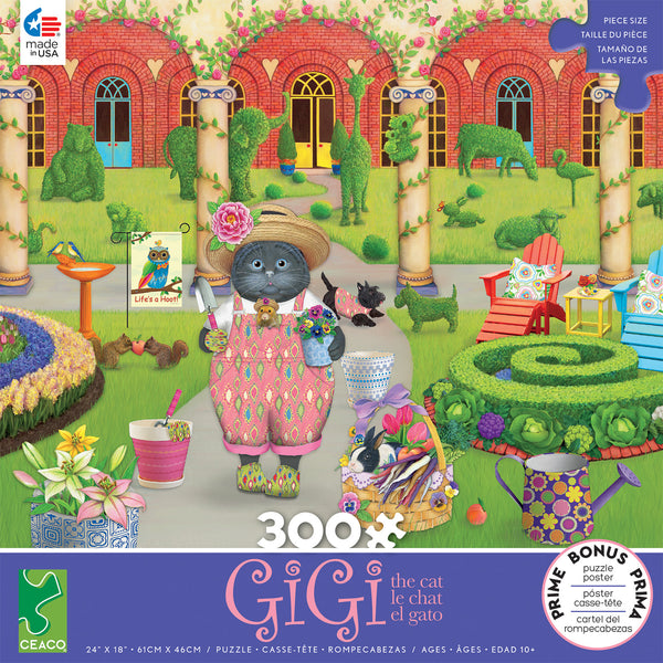 Gigi the Cat - The Gardener - 300 Piece Puzzle