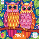 Groovy Animals - Owls - 750 Piece Puzzle