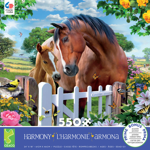 Harmony - At the Garden's Gate 2 - 550 Piece Puzzle