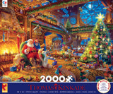 Thomas Kinkade Holiday - Santa's Workshop - 2000 Piece Puzzle
