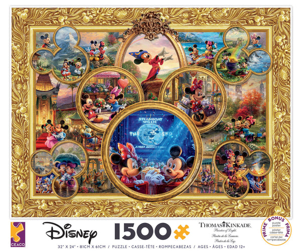 Disney -  Mickey Mouse Collage - 1500 Piece Puzzle