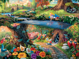 Thomas Kinkade Disney Princess - Alice in Wonderland - 300 Oversized Piece Puzzle