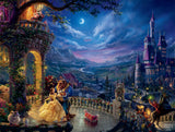 Thomas Kinkade Disney - Beauty and the Beast Dancing in the Moonlight - 750 Piece Puzzle