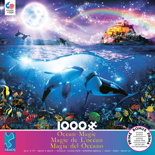 Ocean Magic -  Rainbow Orcas - 1000 Piece Puzzle