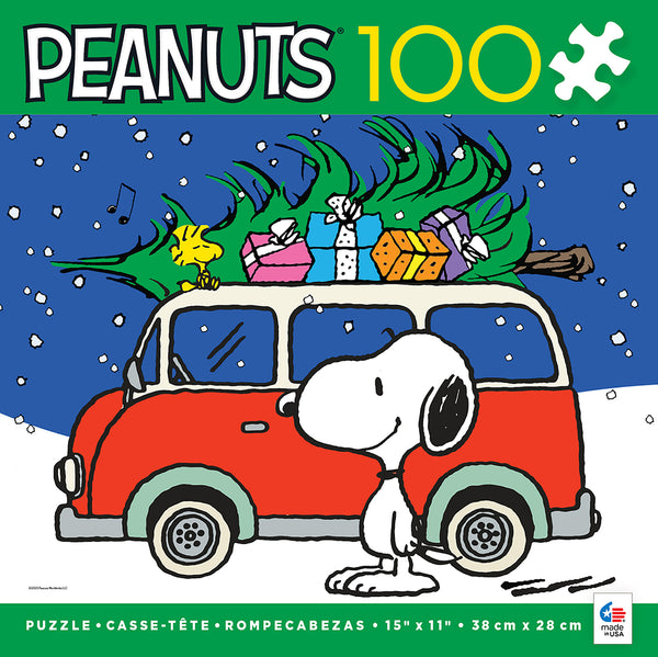 Holiday Peanuts - Peace and Presents - 100 Piece Puzzle