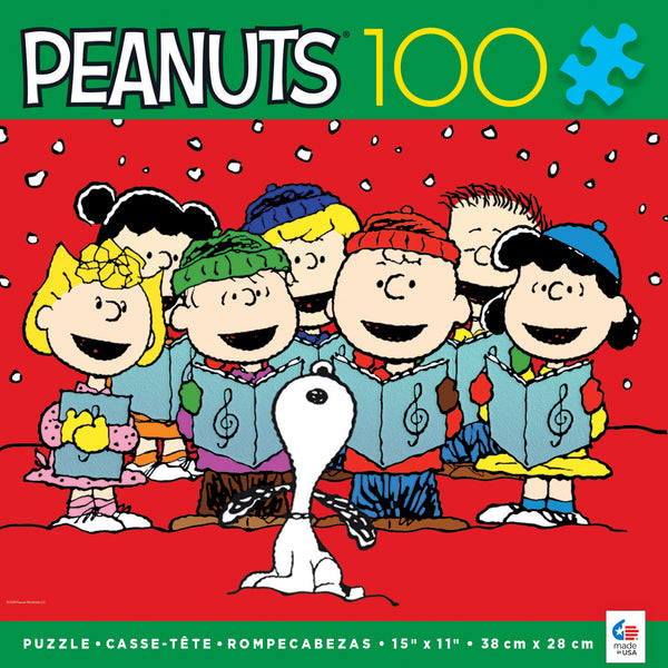Holiday Peanuts - Carolers - 100 Piece Puzzle
