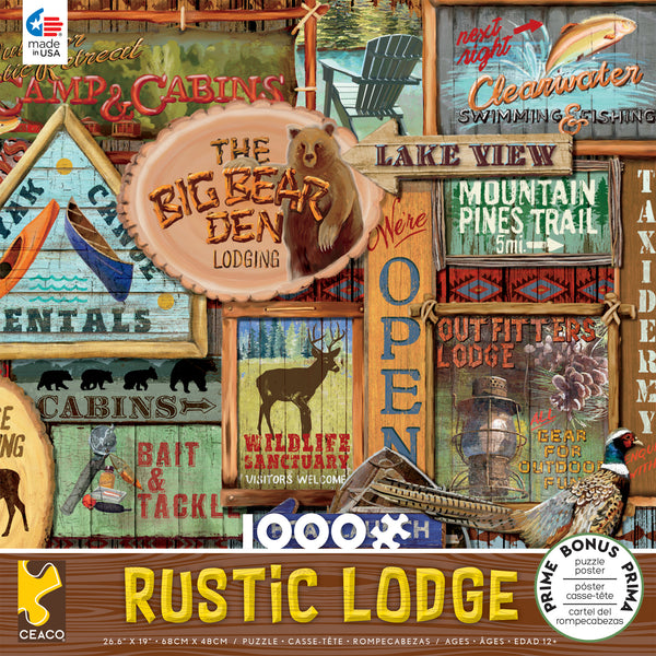 Rustic Lodge - Rustic Signs - 1000 Piece Puzzle